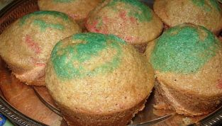Muffin di Carnevale, allegri e colorati