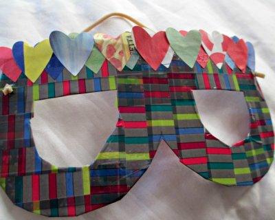 Maschera di carnevale fai da te con i washi tape