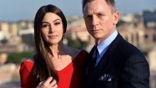 Monica Bellucci sul set di Roma per 007