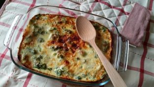 Broccoli gratinati al curry