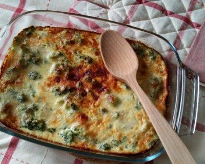 Broccoli gratinati al curry