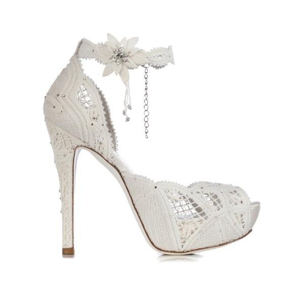 Scarpe Sposa Altissime.Scarpe Da Sposa In Pizzo Per Il 2015 Le Proposte Degli Stilisti