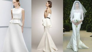 Abiti da sposa 2015: peplum, l'eleganza del punto vita