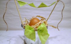 Secchiello segnaposto di Pasqua