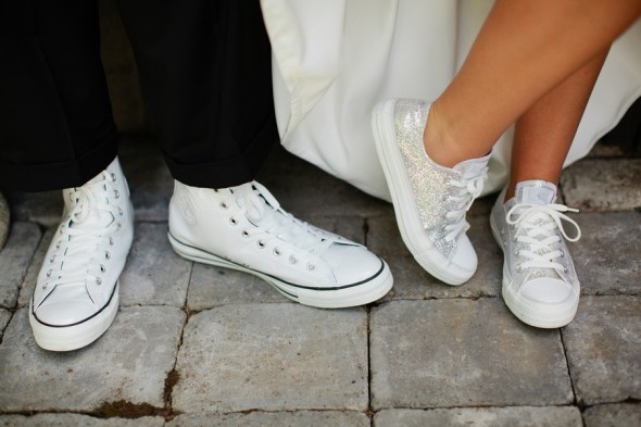converse bianche sposa