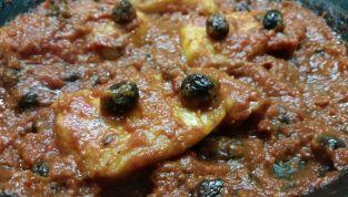 Filetti di merluzzo con pomodoro e olive taggiasche