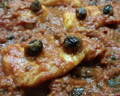 ricetta dei filetti di merluzzo con pomodoro e olive taggiasche - Cucinare Filetto Di Merluzzo