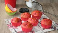 La merenda tutta rosa: Muffin alle fragole
