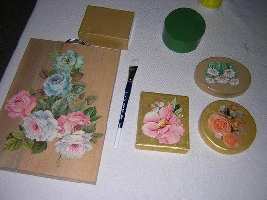 L arte del d coupage - Decoupage su mobili in legno ...