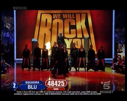 Amici 2009 musical We Will Rock You