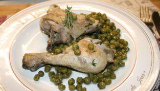 Pollo con piselli, un piatto semplice ma gustoso