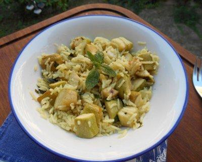 Riso basmati al curry e zucchine, una ricetta etnica con il Bimby