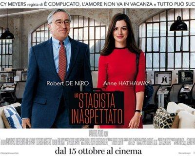 Lo stagista inaspettato, la stellare coppia Hathaway - De Niro sul grande schermo