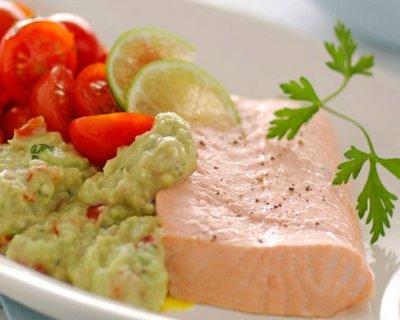 Salmone rosa e verde