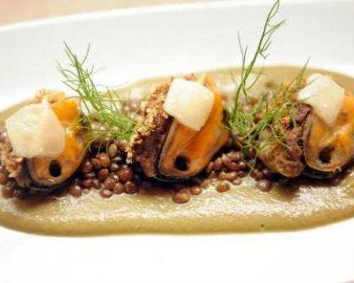 Insalata di cozze e lenticchie