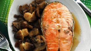 Salmone ai funghi
