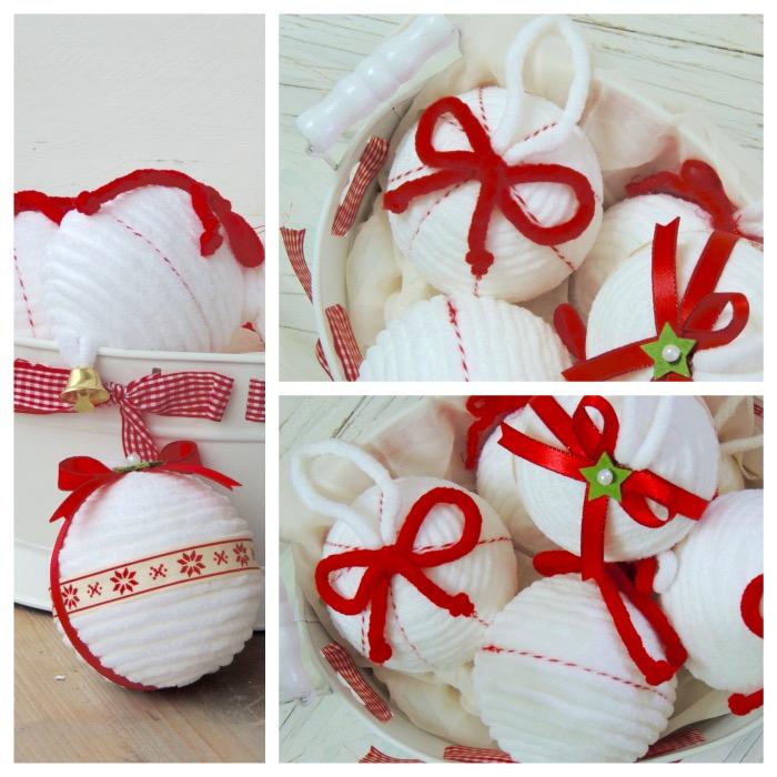 Ben noto Palline di Natale di polistirolo con la lana HE92