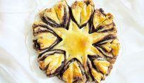 Stella natalizia di pasta sfoglia farcita con Nutella