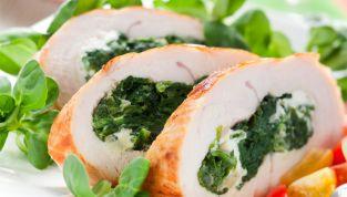 Petti di pollo con ripieno di spinaci