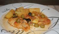 Nasello con patate e olive un secondo goloso