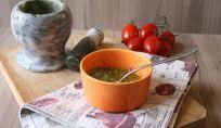 Pesto al basilico con mandorle