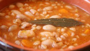 Zuppa di farro e fagioli in vista dell'inverno