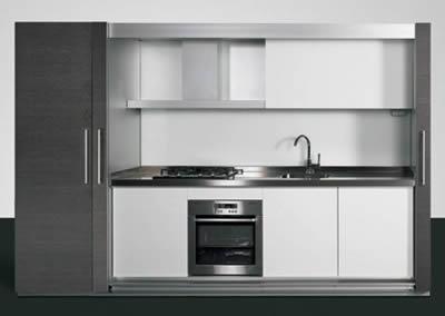 Cucina che scompare soluzioni abitativa salvaspazio - Cucine a scomparsa per monolocali ...