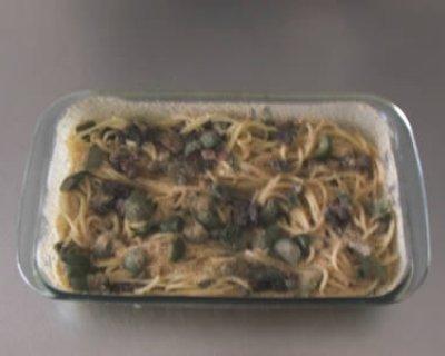 Crostata di spaghetti alla siciliana