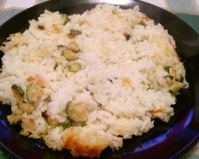 Timballo di riso al forno in bianco