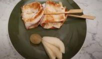 Petti di pollo pere e formaggio