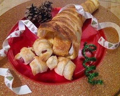 Antipasti Di Natale Fantasiosi.Cornucopia Salata L Antipasto Di Natale Portafortuna