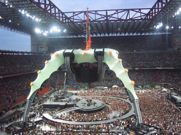 palco concerto U2 Milano 2009