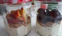 Crema di ricotta con frutta