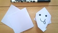 Fantasmino per Halloween in origami