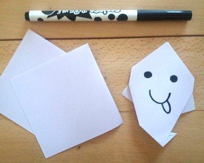 Decorazioni per Halloween: il fantasmino in origami