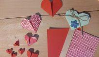 Cuori in origami per San Valentino