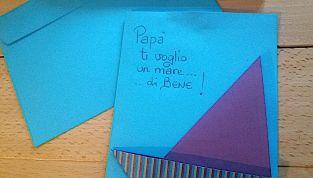 Biglietto per la festa del papà, con barchetta in origami