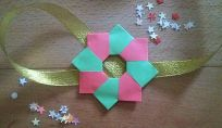 Il ring in origami, originale decorazione di Natale
