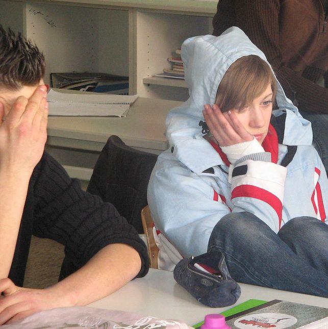 Noia a scuola