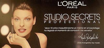 Linda Evangelista L'Oréal Studio Secrets
