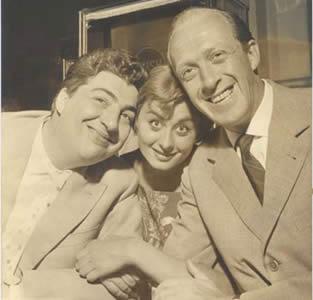 Sandra Mondaini con Vianello e Bramieri