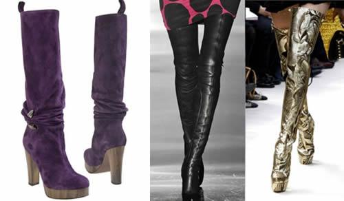 Stivali e cuissardes con plateau