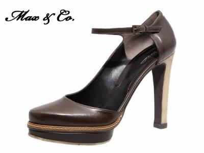 Scarpa con plateau e laccio alla caviglia Max & Co