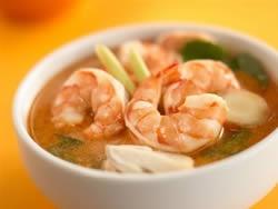 Ricette San Valentino: zuppa di gamberi