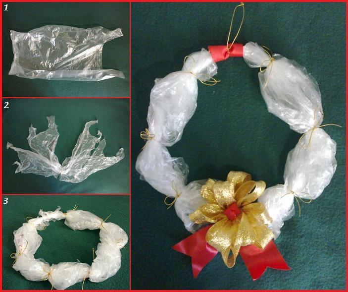 Decorazioni Natale ghirlanda riciclata fai da te