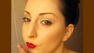 Make up natale christmas in red
