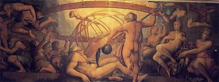 Evirazione di Urano - Dipinto del Vasari