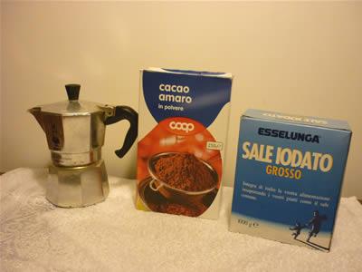 Ingredienti fanghi anticellulite fai da te al cacao amaro
