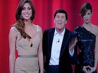 Belen Rodriguez, Gianni Morandi e Elisabetta Canalis