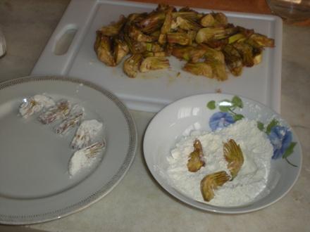 carciofi impanati e fritti